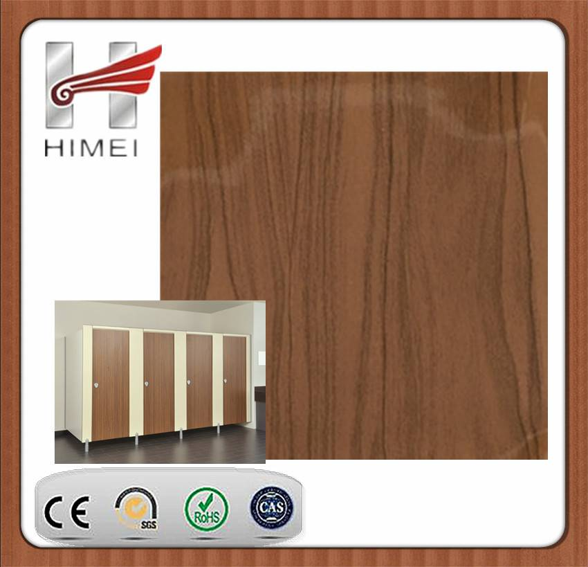 PVC film laminated sheet for toilet partition