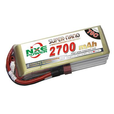 NXE2700mAh-70C-22.2V Softcase RC Helicopter Battery