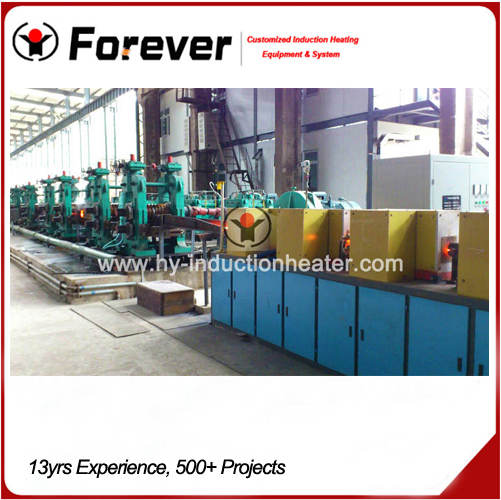 Rebar heating furnace for rolling