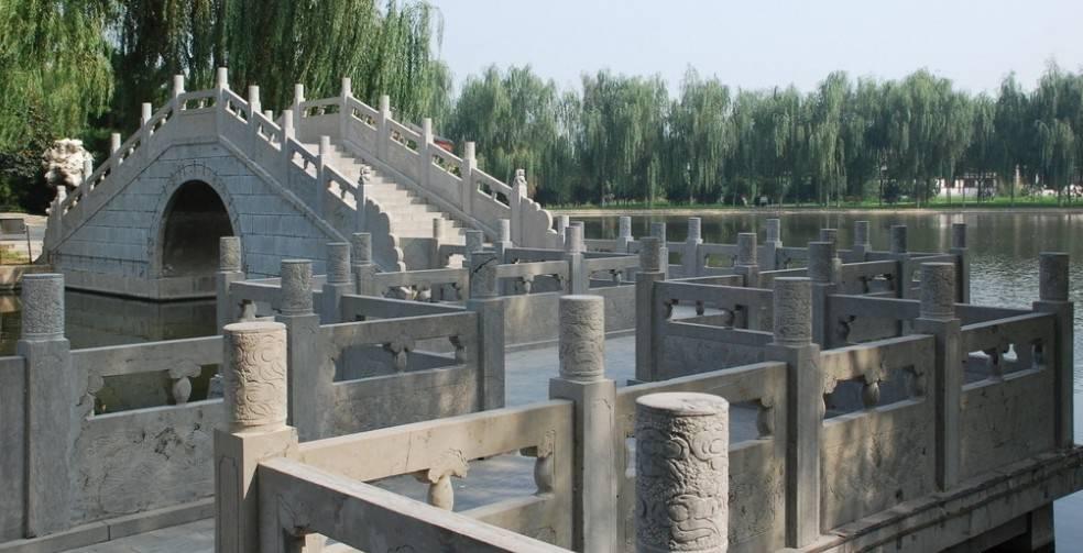 stone bridge,stone table