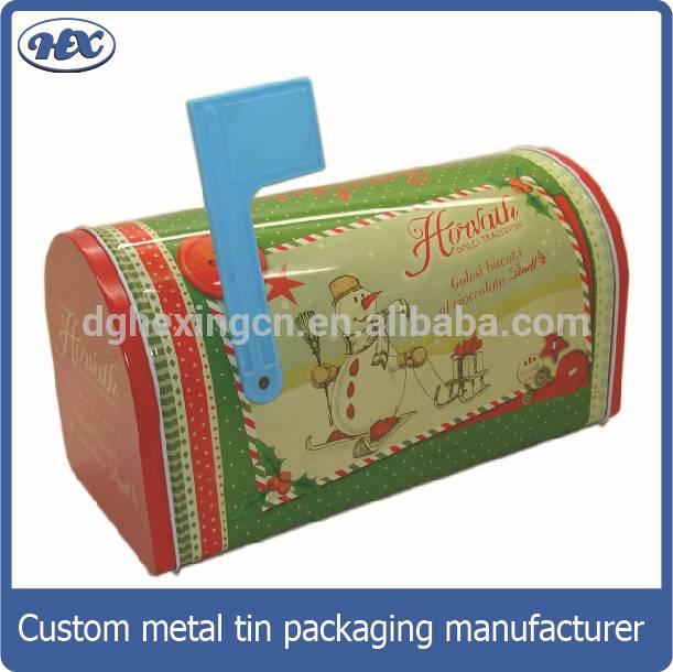 Metal maibox shape candy tin box