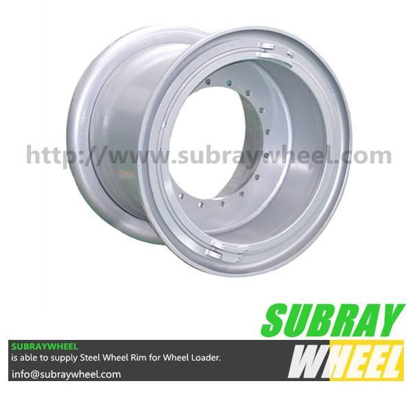 5 Piece tubeless wheel for mining earthmover
