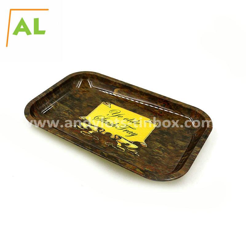 Food grade metal tin tray rectangular serving tin tray wholesale