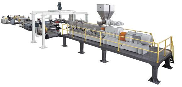 PET Single Screw Sheet Extrusion Line (with Crystallization and Dehumidifier)/