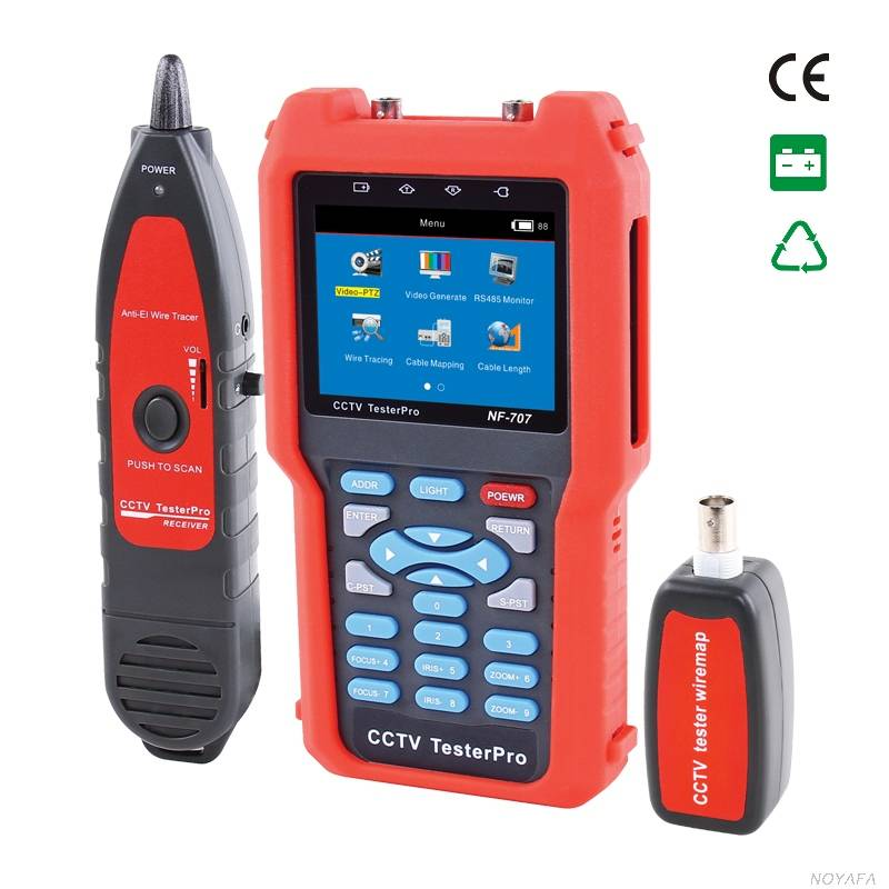 CCTV tester NF-707 & cable  tester & fiber optic power meter