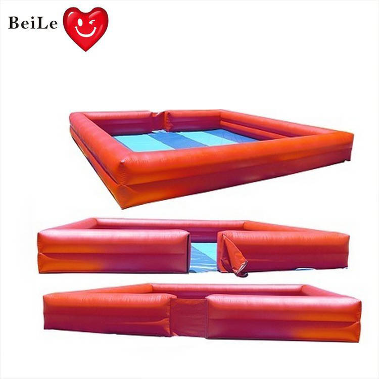 Customized 2 rings giant inflatable adult swimming pools