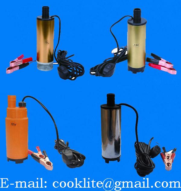 12V Submersible Diesel Fuel Gas Water Oil Car Transfer Drum Pump