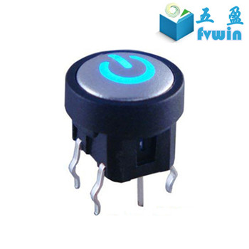 Round led Tact Switch with laser cap for Control Panel(10mm TS8-3B4AU1)