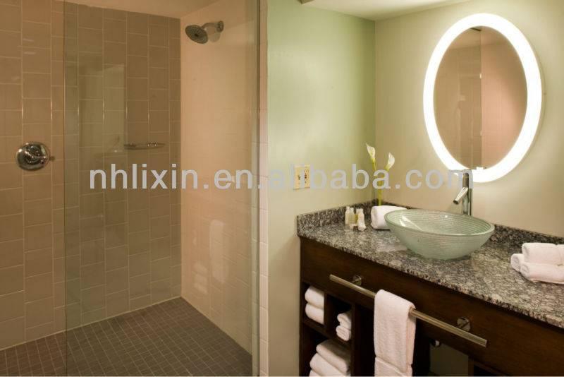 Fancy Round Backlit LED Light Illuminated Bath Mirror