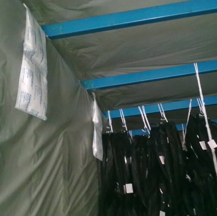Shipping container desiccant