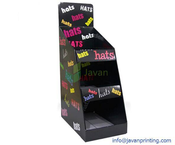 Black Cardboard Counter Display for Hats