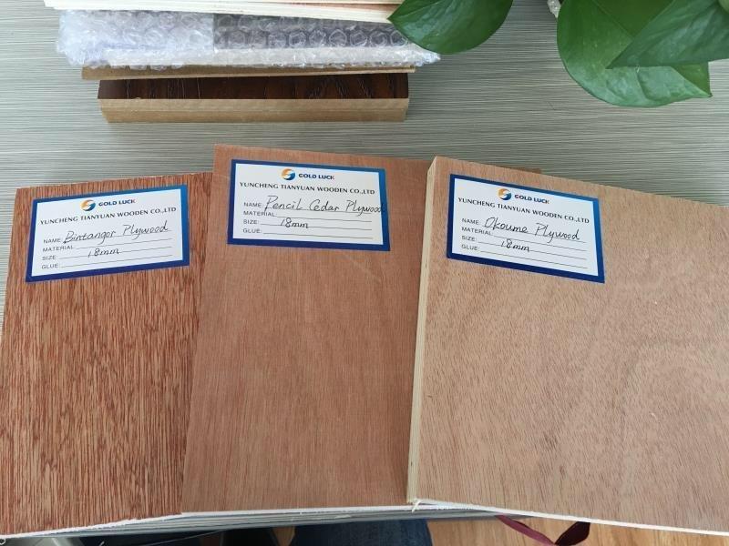 Hardwood,Combi,Poplar Core Pencil Cedar/Okoume/Bintangor Furniture Plywood