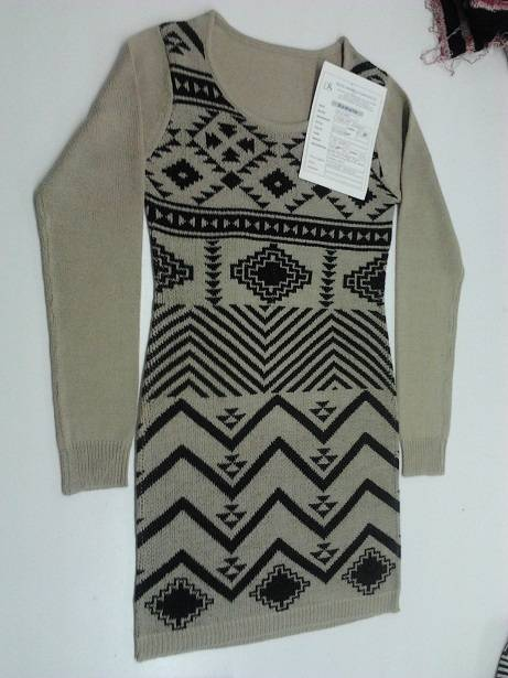 Ladies Jacquard sweater