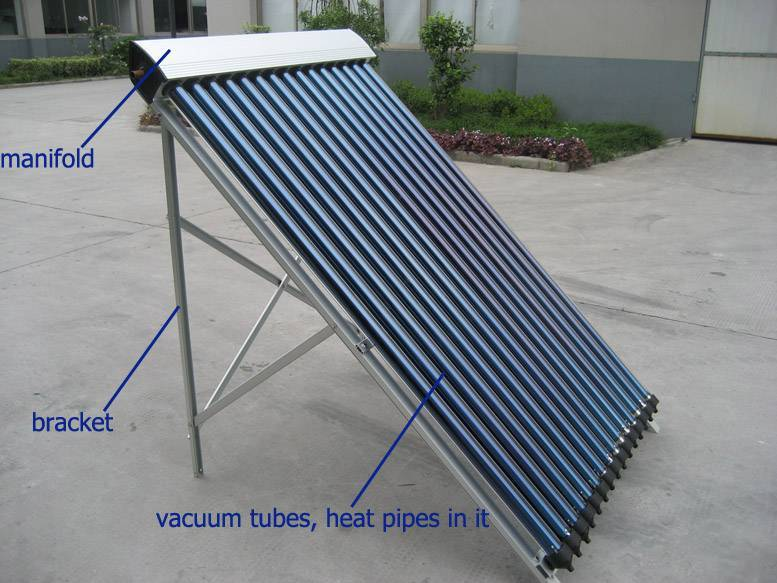 Solar Collector with Evacuated Tube