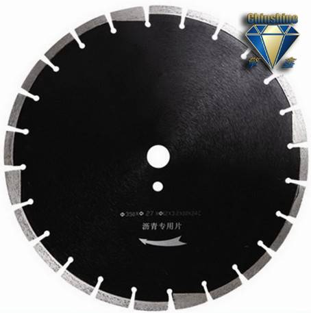 Laser welded asphalt diamond blades