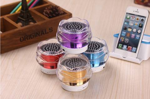Crystal Bluetooth Speaker with Colorful Led Light