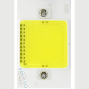NO power Driver AC COB ceramic board square emitting area led 220V AC 50w COB