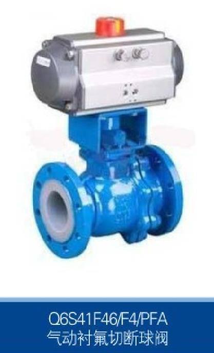 pneumatic control lining  ball  valve