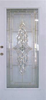 Entry Brass Strip Glass Door