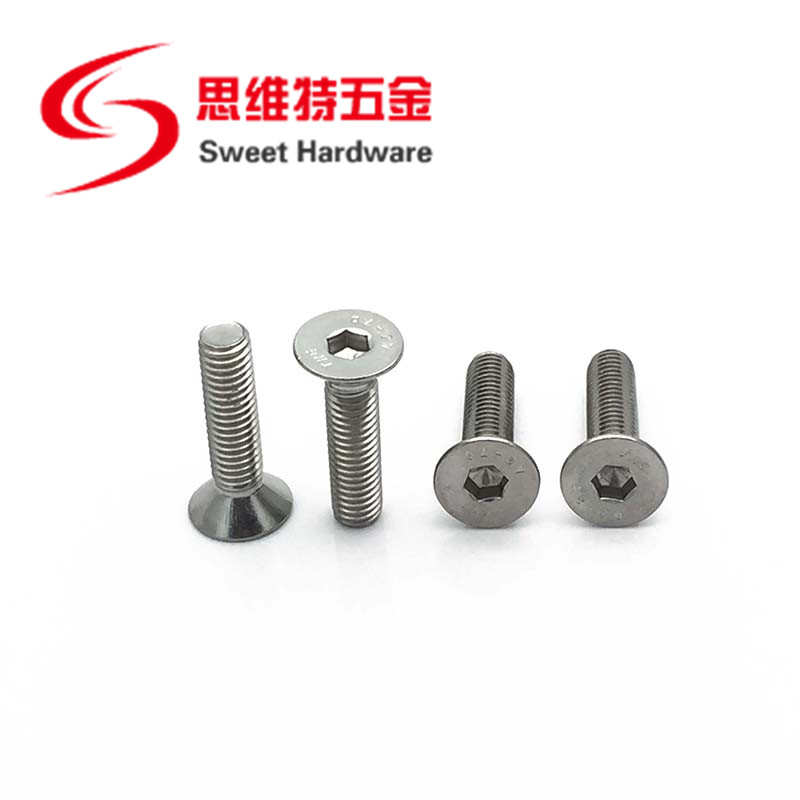 304 Stainless steel countersunk head hex bolt DIN7991