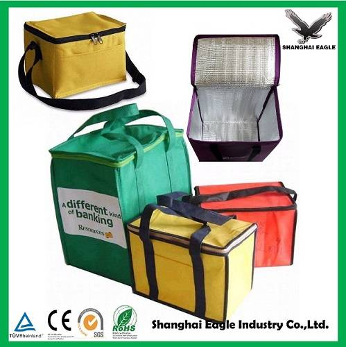 Customized 600D disposable polyester insulated cooler bag manufacture