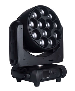Dj Light, 12 X 40W 4-in-1 LED Moving Head Light With Zoom (PHN036)