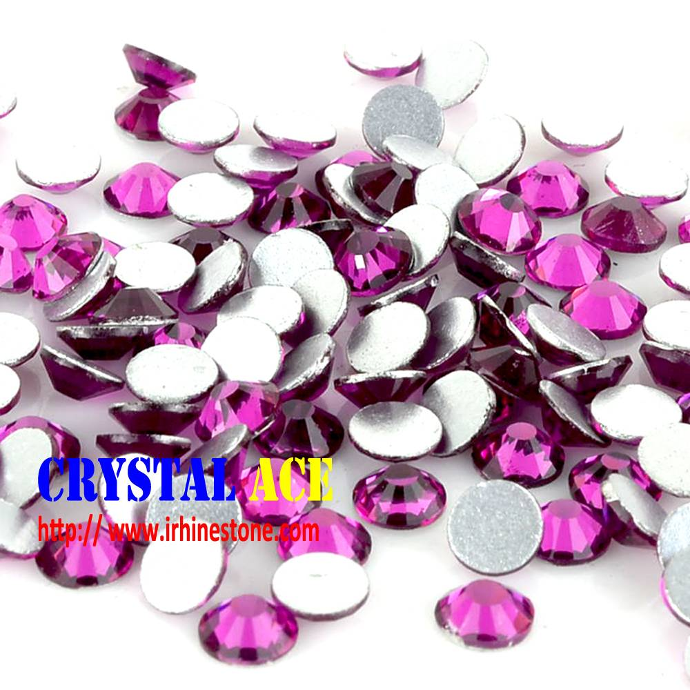 Nail Rhinestones flat back, colors glass stones with silver back for nail arts