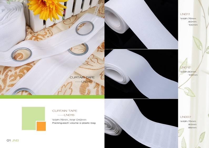 Eyelet curtain tape with EYELET rings