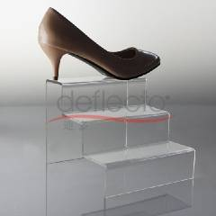 Deflecto Acrylic Shoe Rack,3-tiers
