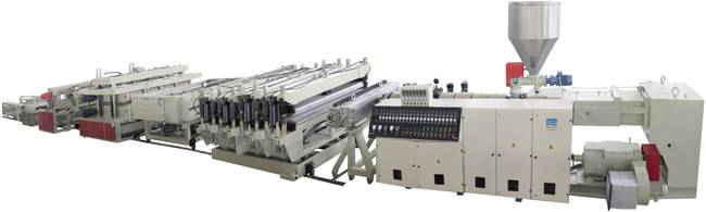 PVC Crust&Half-crust Free Foamed Board Product Line    extrusion equipment supplier
