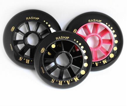 Rasha Inline Speed Skating Wheels 110mm 100mm 90mm Super-Strength Black Red Mars901 Wheels for Skate