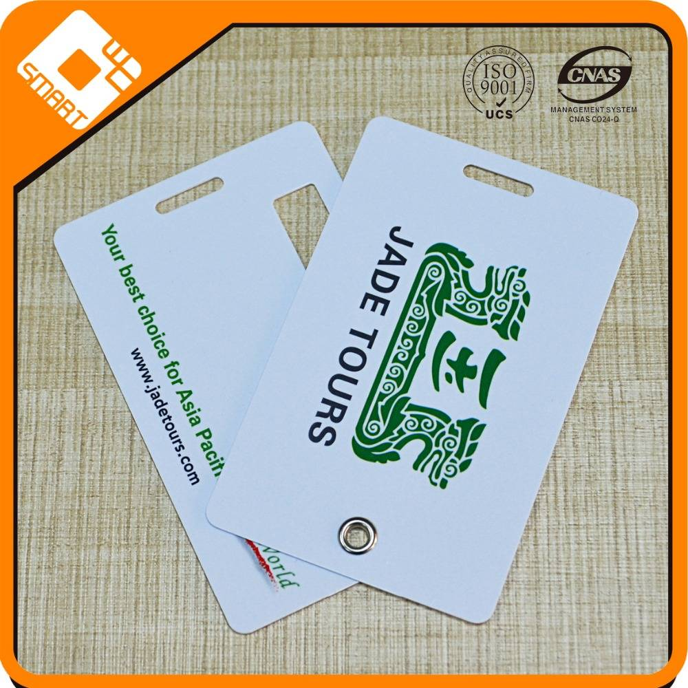 Plastic business card size luggage tag