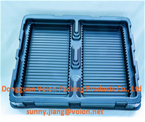 electronic components blister trays, plastic packaging trays with goods quality, exported in China