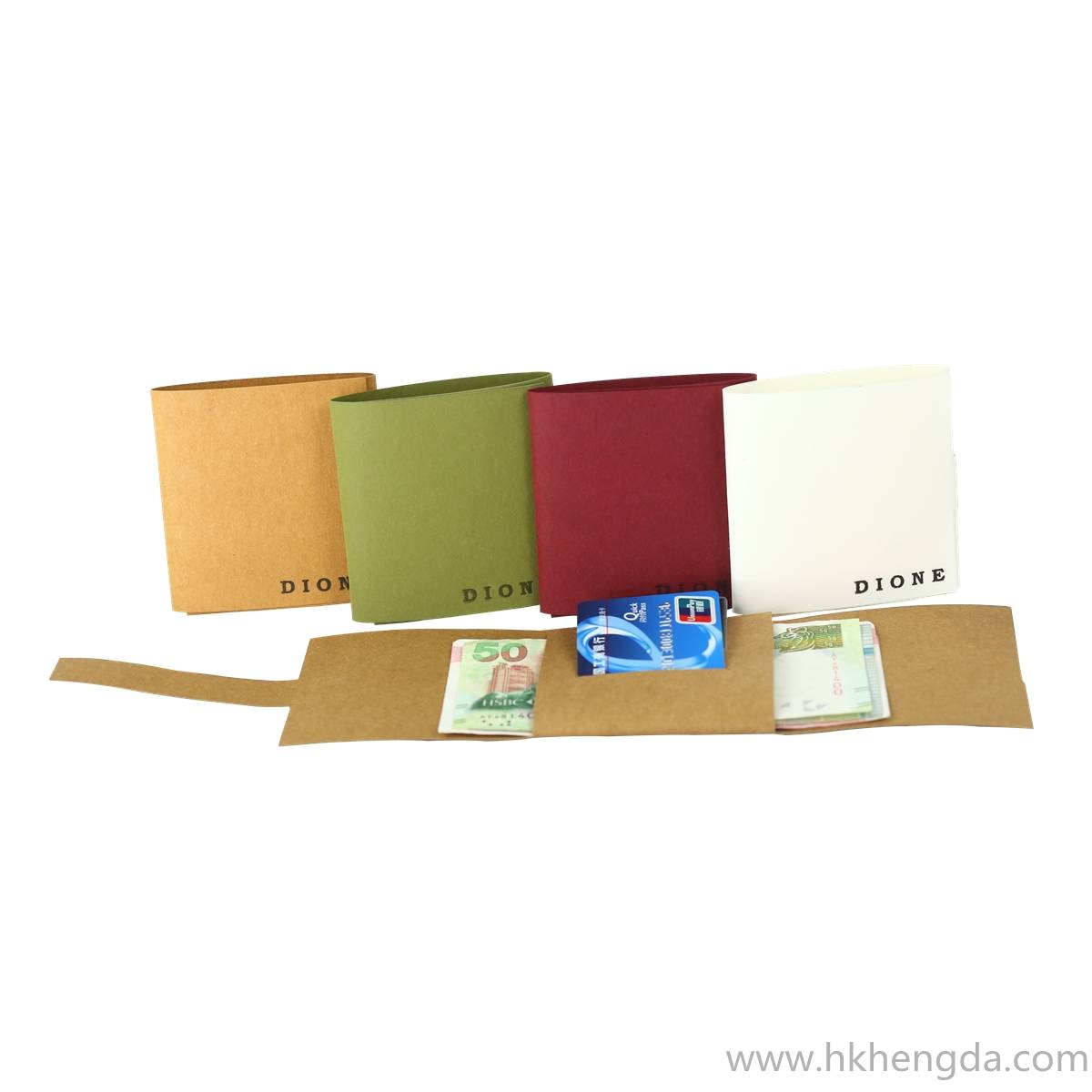 New style washable kraft paper wallet