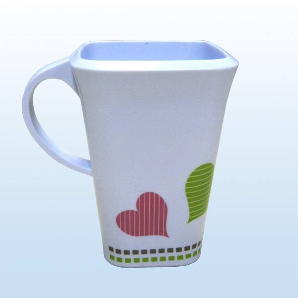 square melamine mug