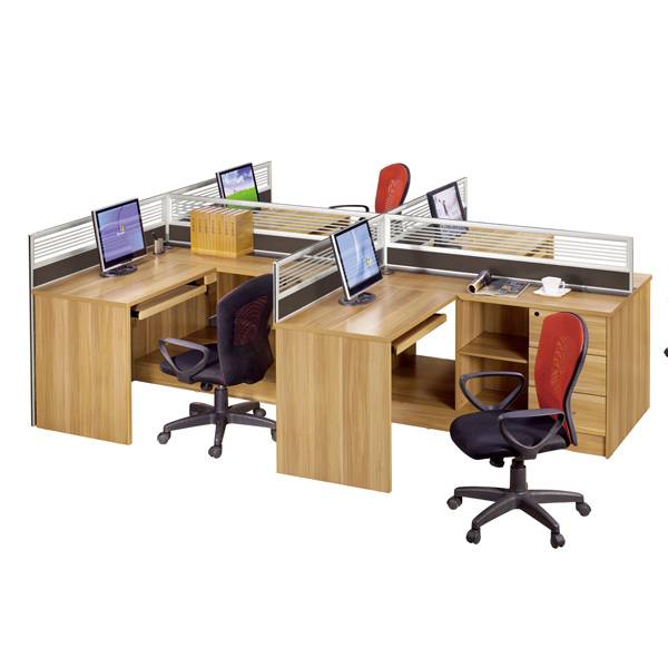 workstation, office partition, 4 seats office desk