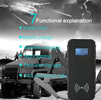 wireless charger lithium jump starter for diesel and gasoline