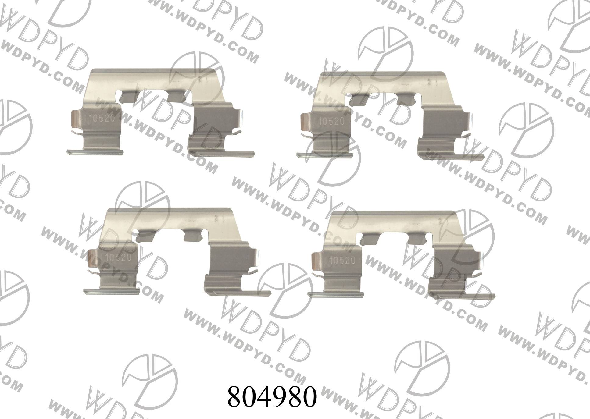 WELLDE DSIC BRAKE PAD HARDWARE KIT 804980 FOR HYUNDAI ACCENT EXCEL