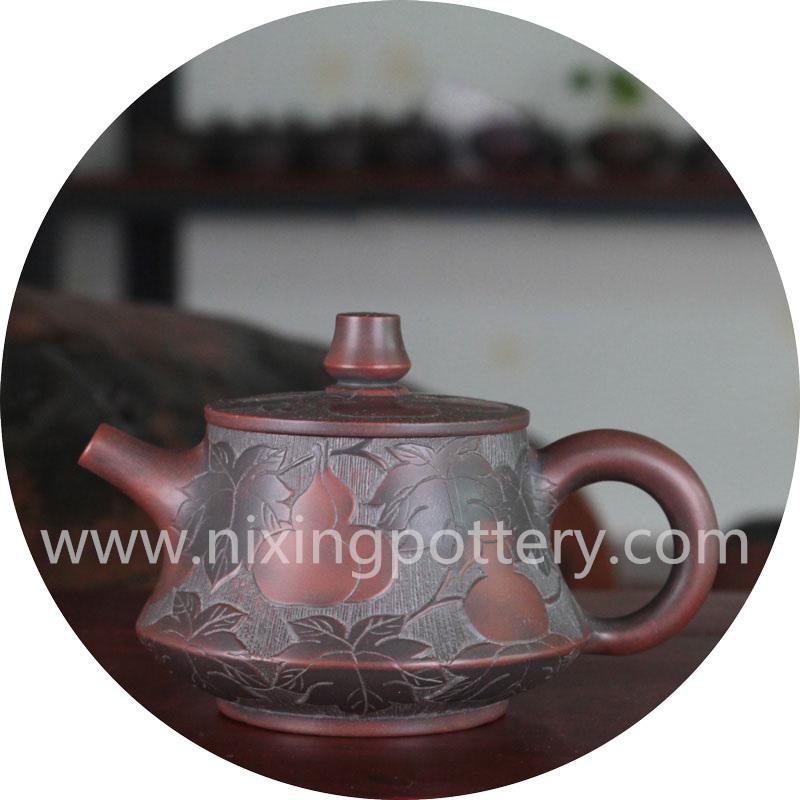 Clay Tea Pot 160ml Nixing Pottery Teapot Kung Fu Tea Set Family Use Pot