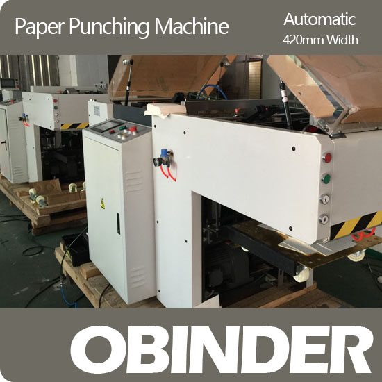 Obinder automatic paper punching machine OBPC420