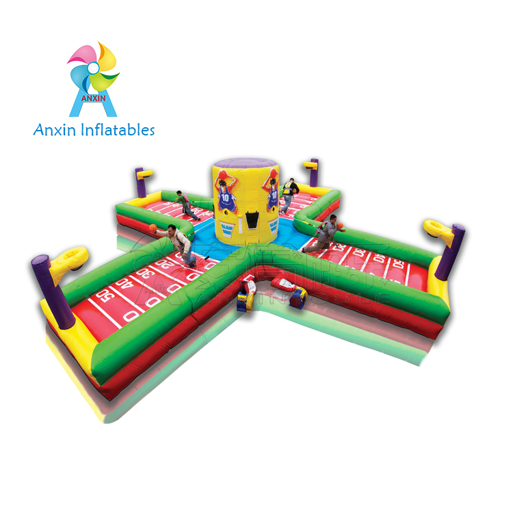 inflatable basketball toss games/Inflatable BallBuster game/basketball toss with bungee cords