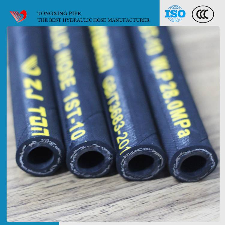 ZHUJI city EPDM high pressure steam rubber hose / heat resistant rubber hose/ hydraulic hose fiber r
