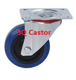 rubber wheel castor