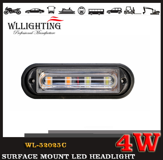 4W 12V 24V Linear LED Surface Mount Grille light