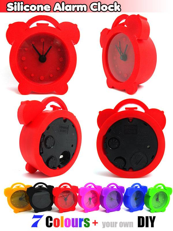 2013 New Promotion Silicone Alarm Desktop Table Clock