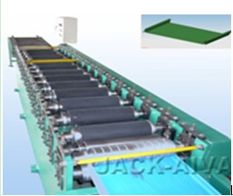 Shelving panel roll forming machines