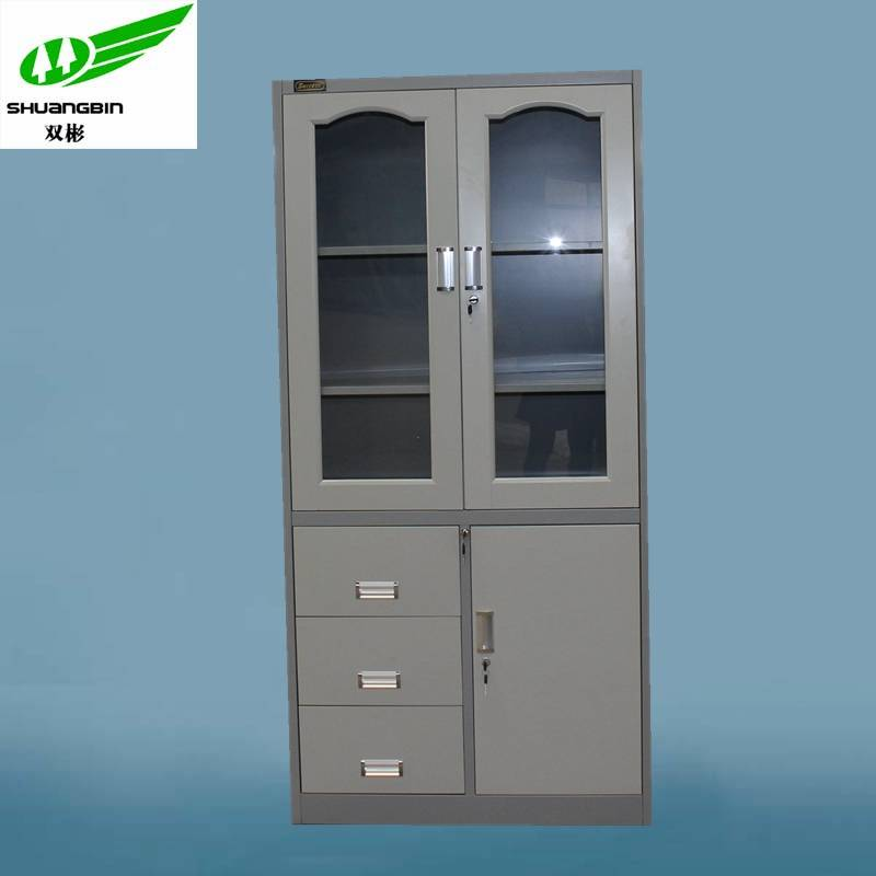 Metal workshop cabinet with Three drawers down the left