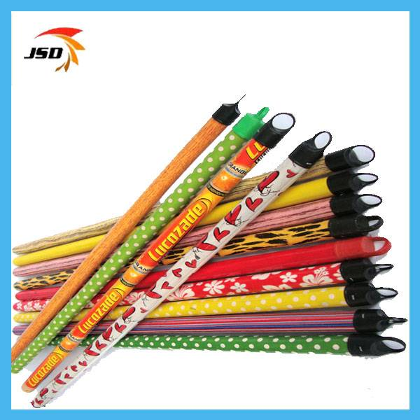 Flower pvc design wooden broom handle
