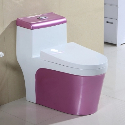 European style ceramic one piece colored toilet bathroom water closet