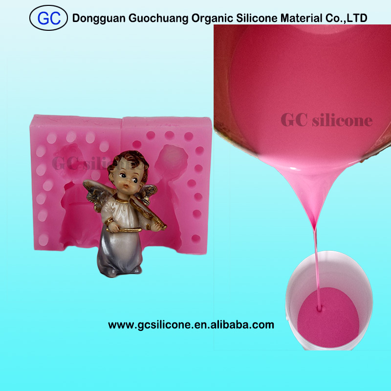 platinum curing mold making liquid silicone rubber for poly resin craft molds for sale